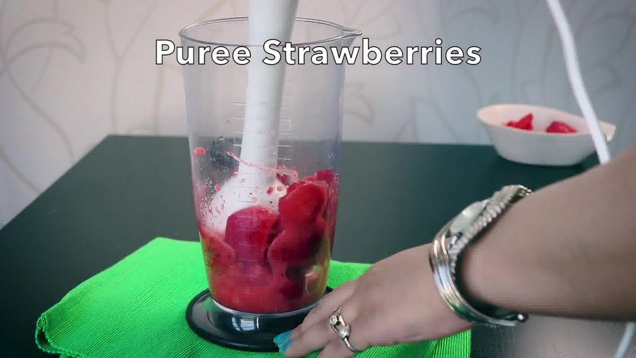Image of the cooking step-1-6 for Instant Strawberry Shrikhand - Strawberry Yogurt Dessert