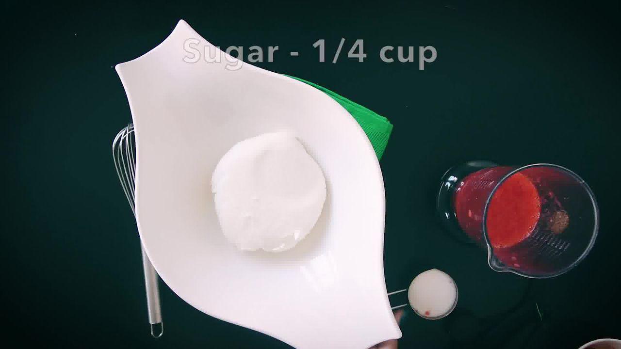 Image of the cooking step-1-7 for Instant Strawberry Shrikhand - Strawberry Yogurt Dessert