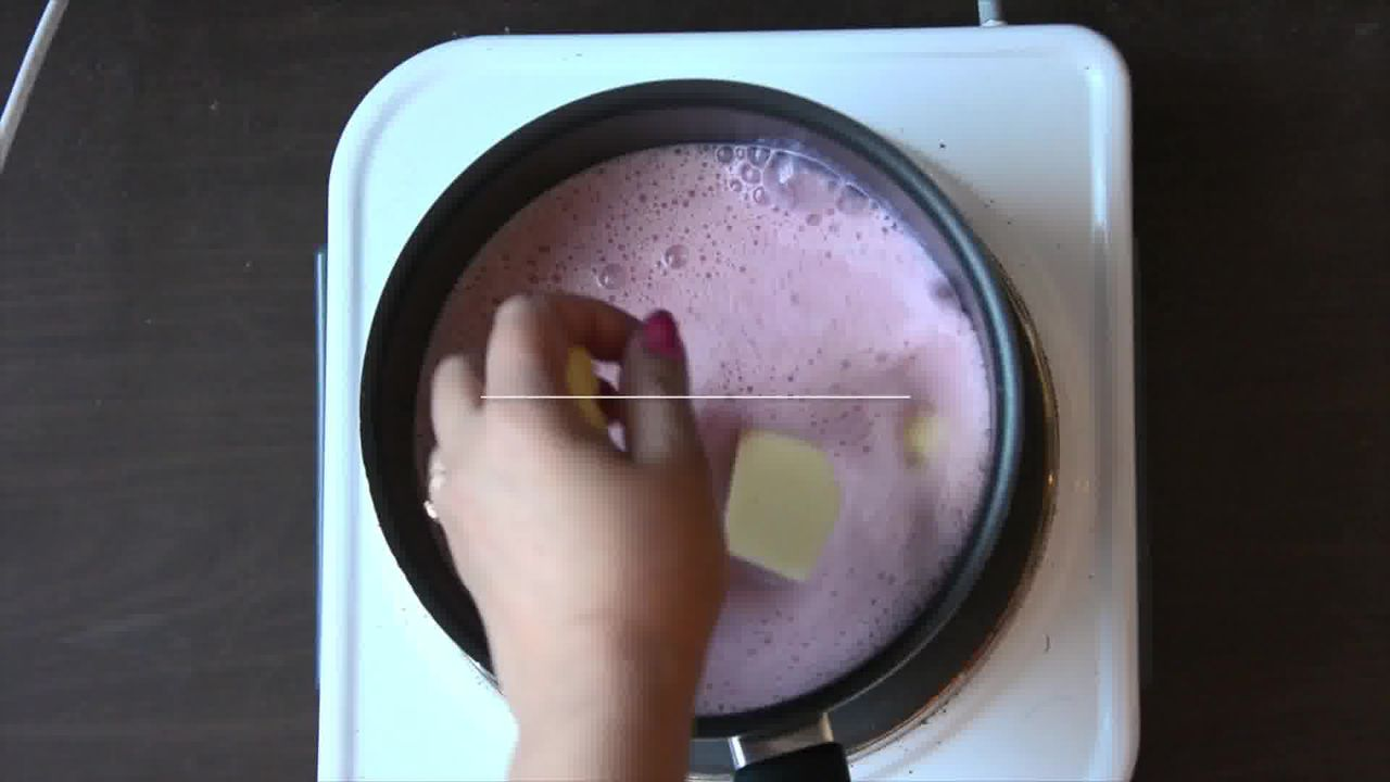 Image of the cooking step-1-4 for Strawberry White Hot Chocolate Recipe