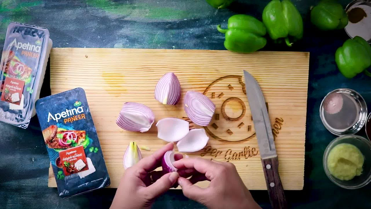 Image of the cooking step-1-2 for Tandoori Paneer Tikka (Oven, Tawa, Grill, Panini Maker)