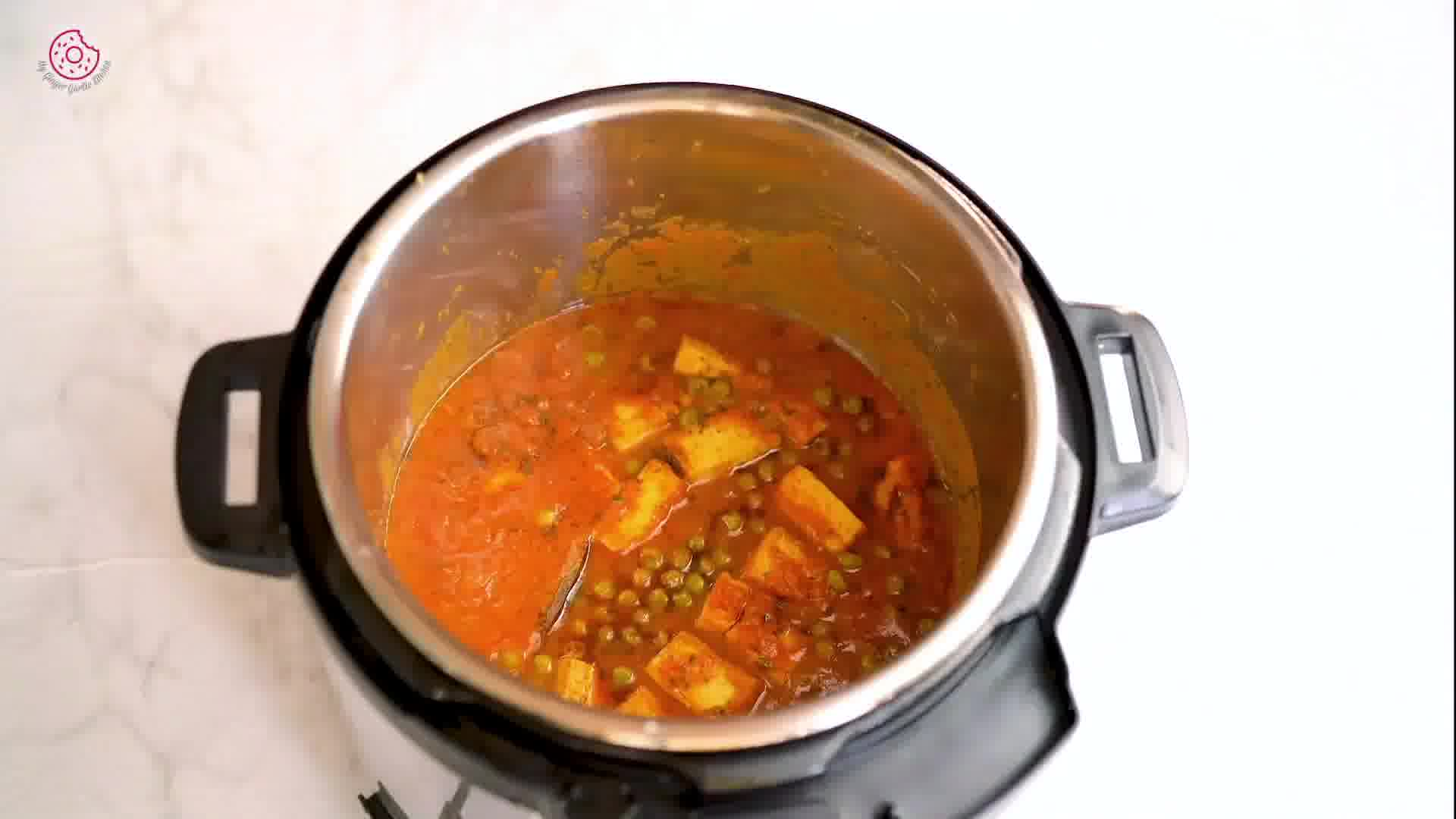 Image of the cooking step-2-10 for Instant Pot Tofu Matar