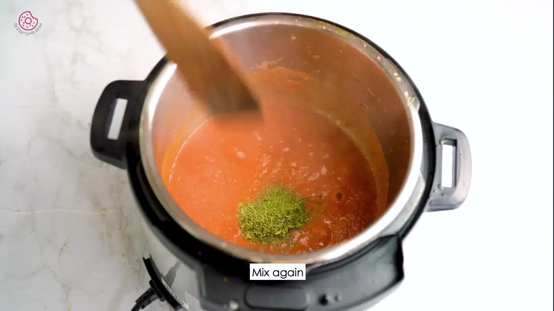 Image of the cooking step-2-5 for Instant Pot Tofu Matar