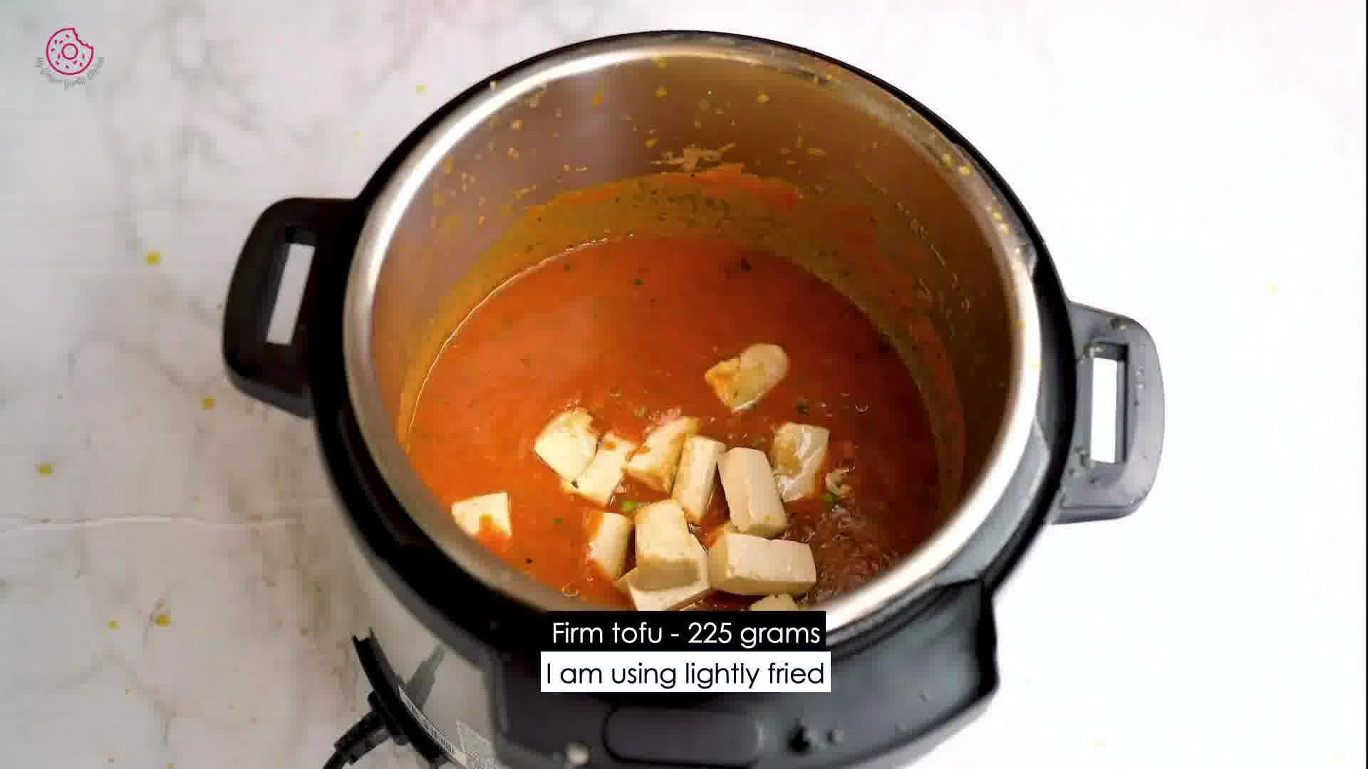 Image of the cooking step-2-8 for Instant Pot Tofu Matar