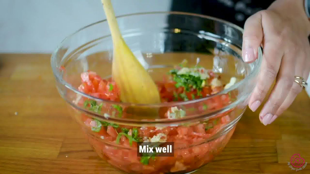 Image of the cooking step-1-4 for Tomato Bruschetta