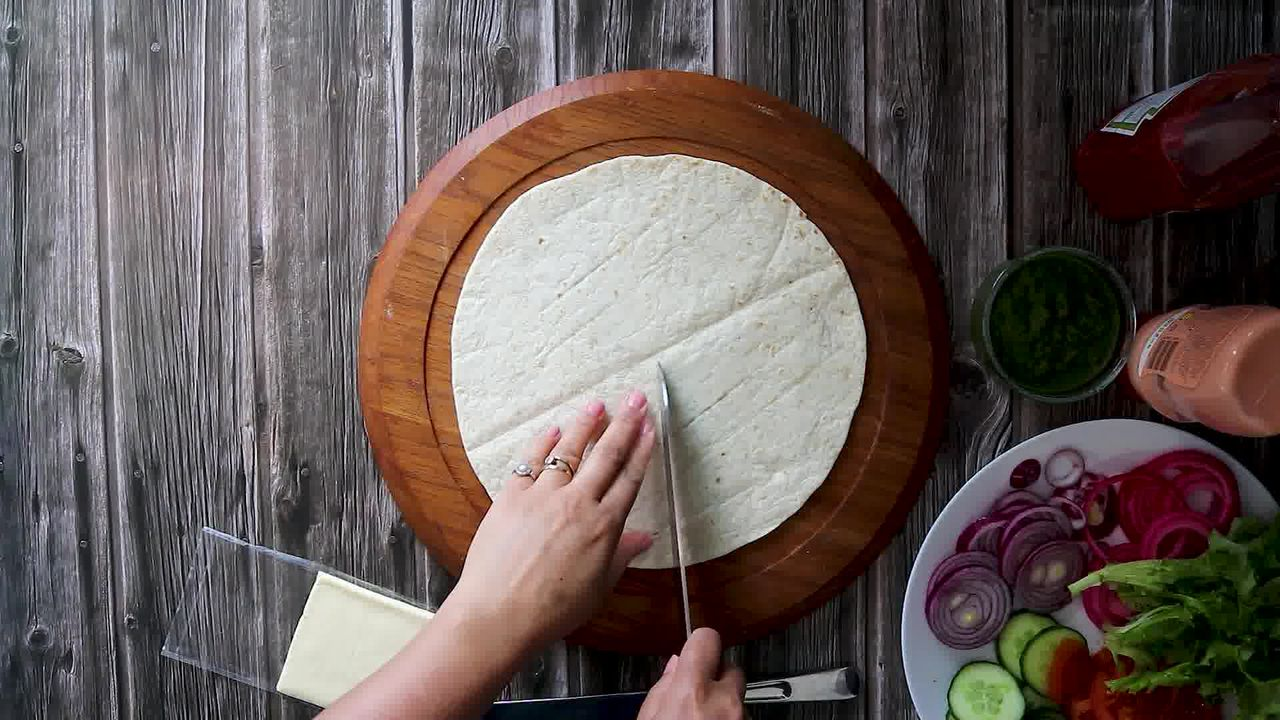 Image of the cooking step-1-1 for TikTok Tortilla Wrap Hack (6 Vegetarian Filling Ideas)