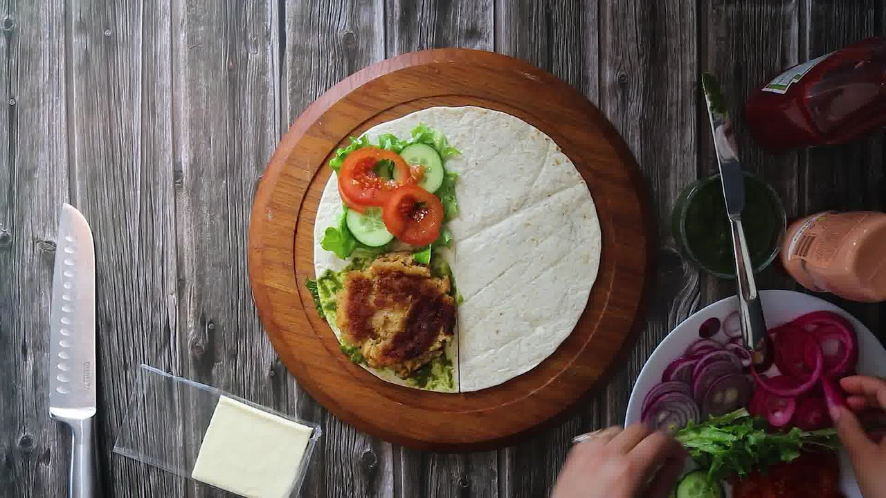 Image of the cooking step-1-3 for TikTok Tortilla Wrap Hack (6 Vegetarian Filling Ideas)