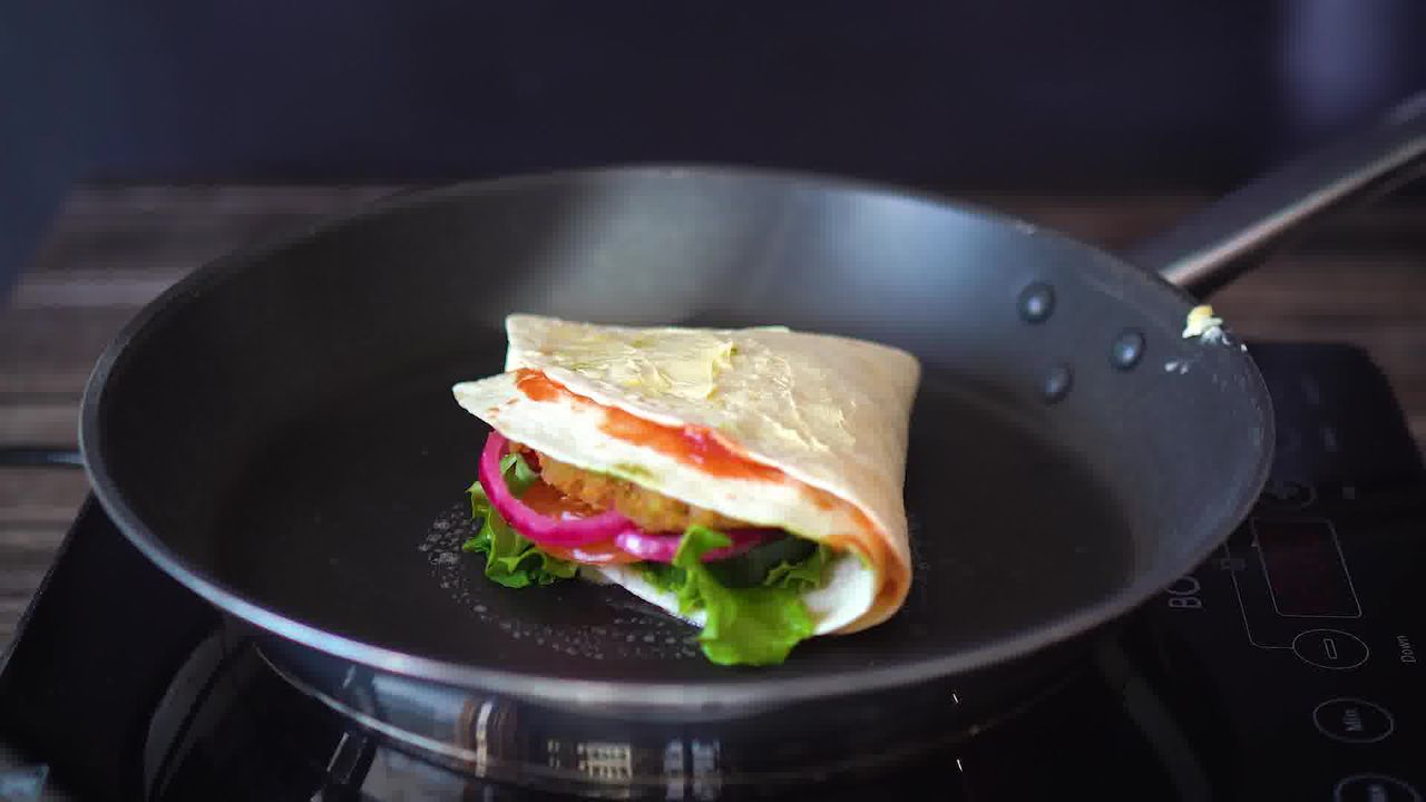 Image of the cooking step-1-7 for TikTok Tortilla Wrap Hack (6 Vegetarian Filling Ideas)