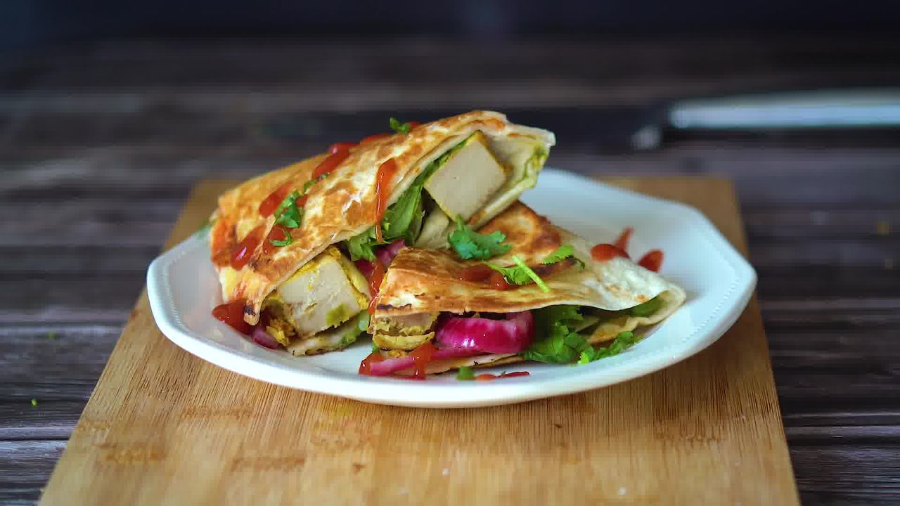 Image of the cooking step-2-8 for TikTok Tortilla Wrap Hack (6 Vegetarian Filling Ideas)
