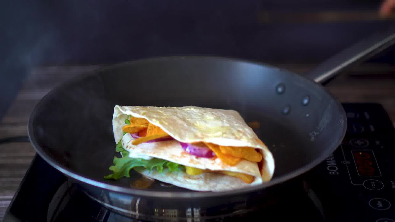 Image of the cooking step-3-7 for TikTok Tortilla Wrap Hack (6 Vegetarian Filling Ideas)