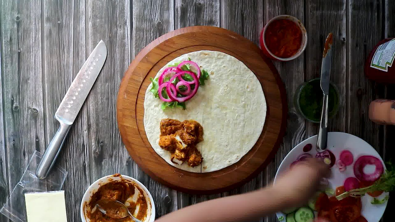 Image of the cooking step-4-3 for TikTok Tortilla Wrap Hack (6 Vegetarian Filling Ideas)