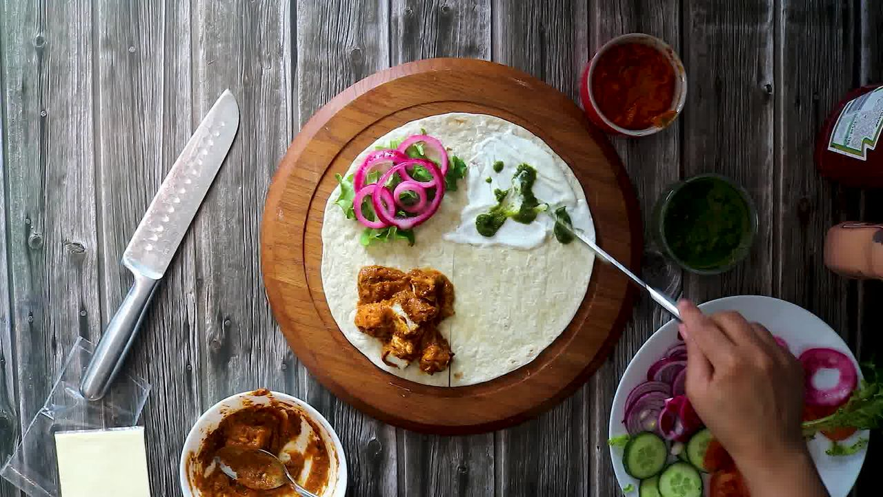 Image of the cooking step-4-4 for TikTok Tortilla Wrap Hack (6 Vegetarian Filling Ideas)
