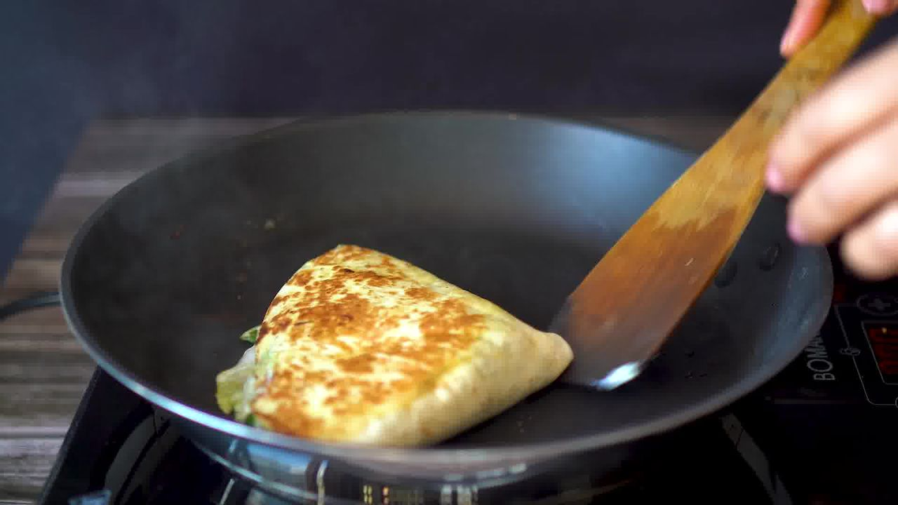 Image of the cooking step-4-7 for TikTok Tortilla Wrap Hack (6 Vegetarian Filling Ideas)