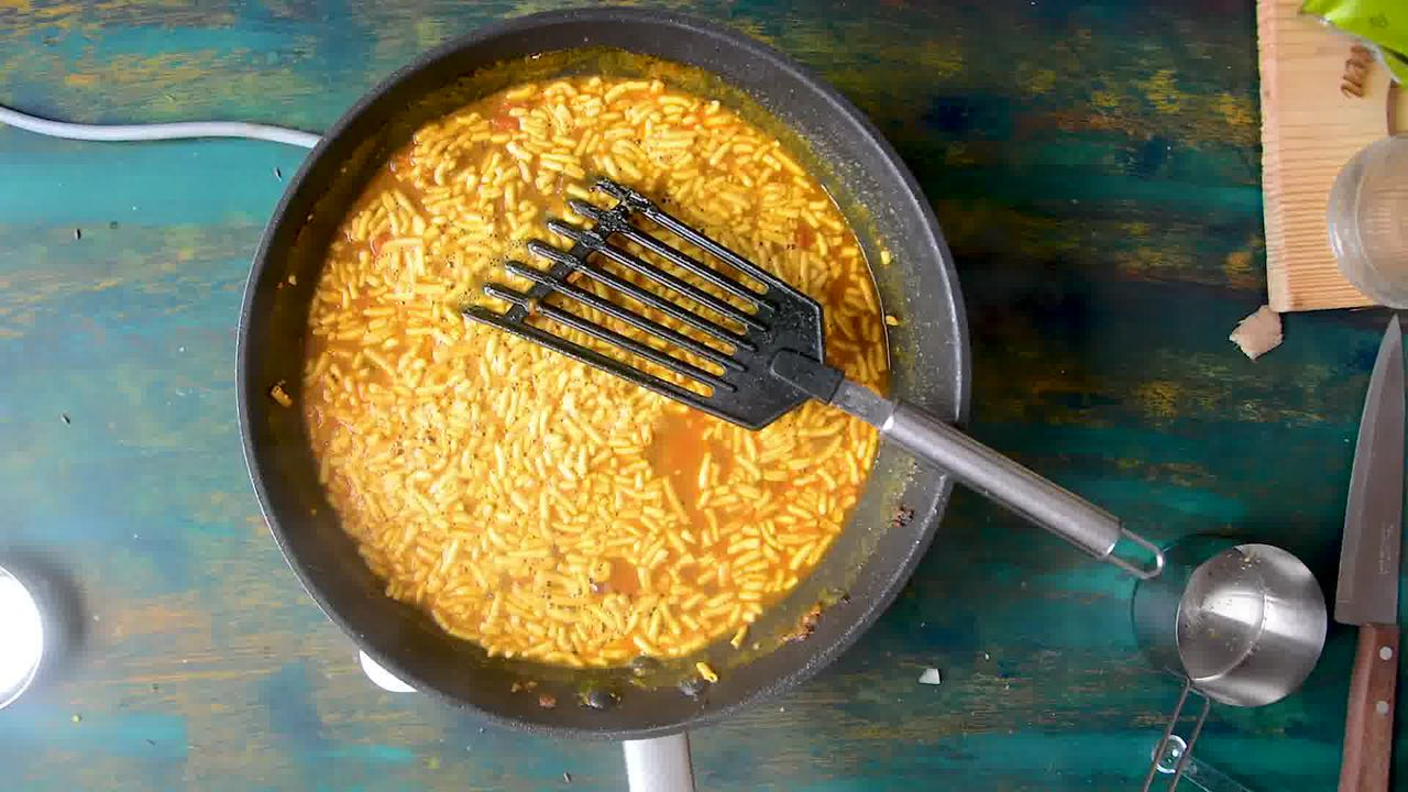Image of the cooking step-1-10 for Traditional Rajasthani Sev Tamatar Ki Sabzi
