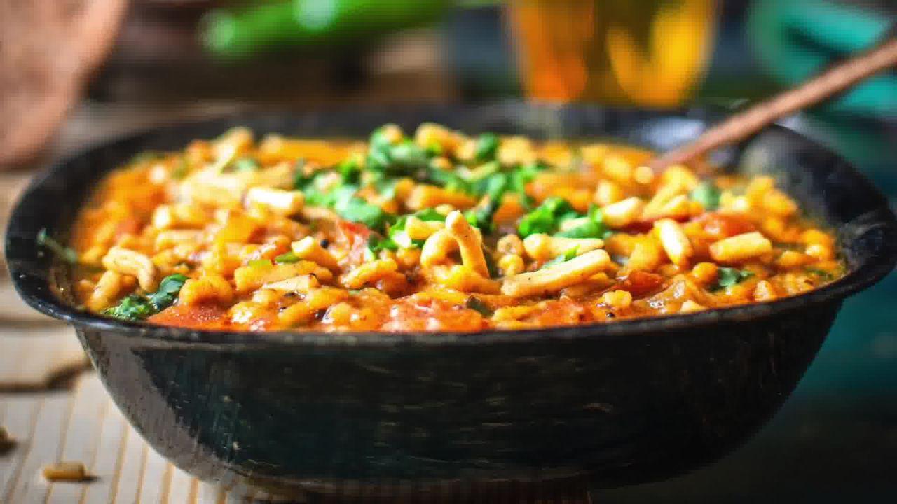 Image of the cooking step-1-12 for Traditional Rajasthani Sev Tamatar Ki Sabzi