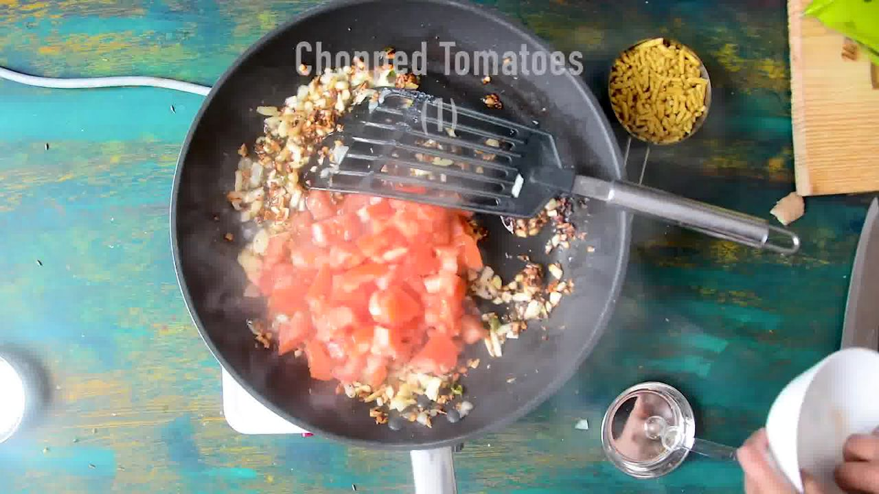 Image of the cooking step-1-5 for Traditional Rajasthani Sev Tamatar Ki Sabzi