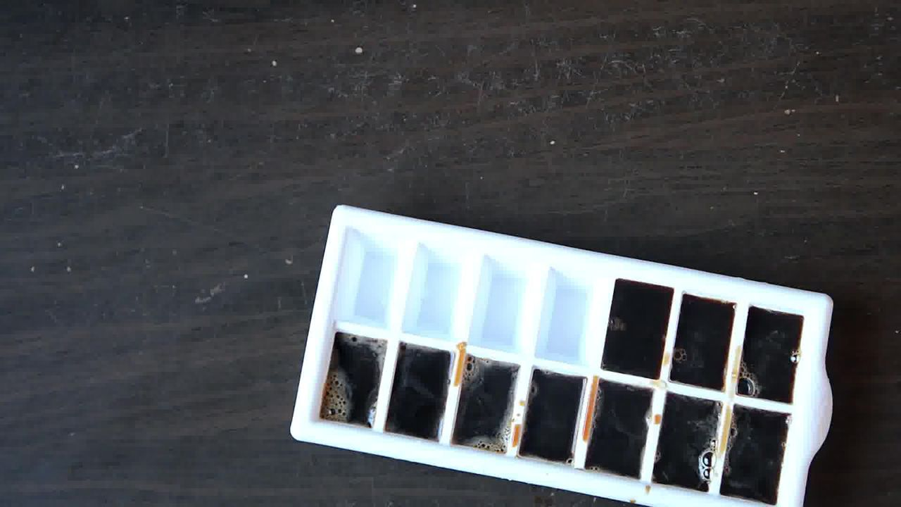 Image of the cooking step-1-2 for Vanilla Iced Mocha With Coffee Ice Cubes (Video)