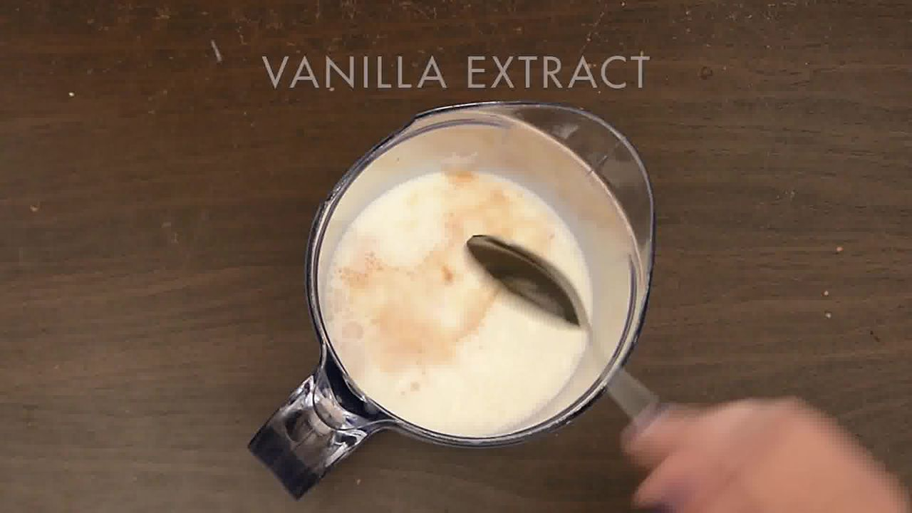 Image of the cooking step-1-3 for Vanilla Iced Mocha With Coffee Ice Cubes (Video)