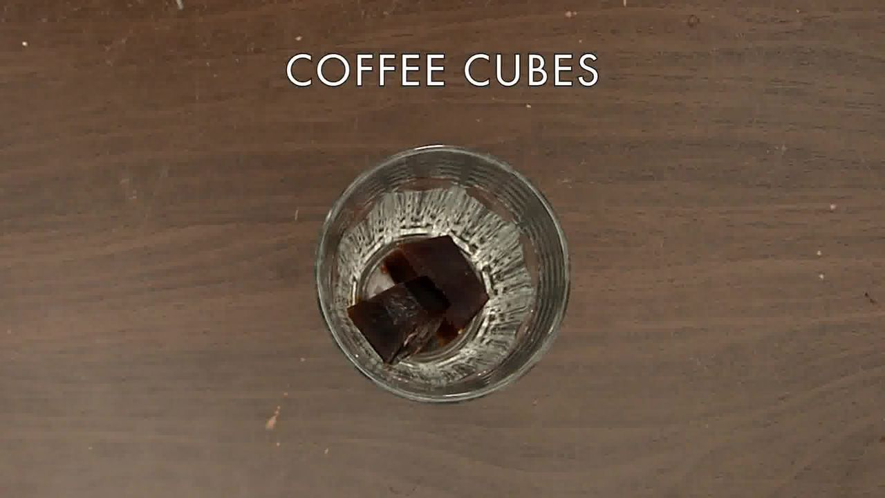 Image of the cooking step-1-5 for Vanilla Iced Mocha With Coffee Ice Cubes (Video)
