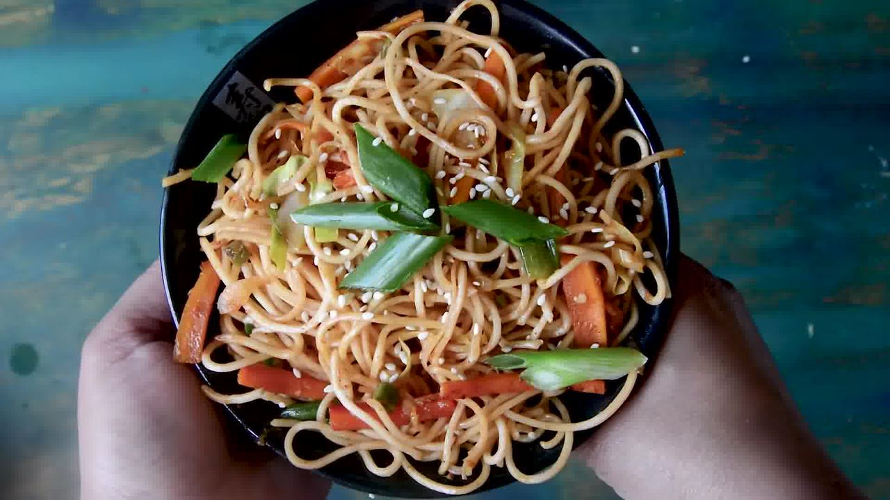 Image of the cooking step-1-11 for Easy Veg Schezwan Noodles Recipe