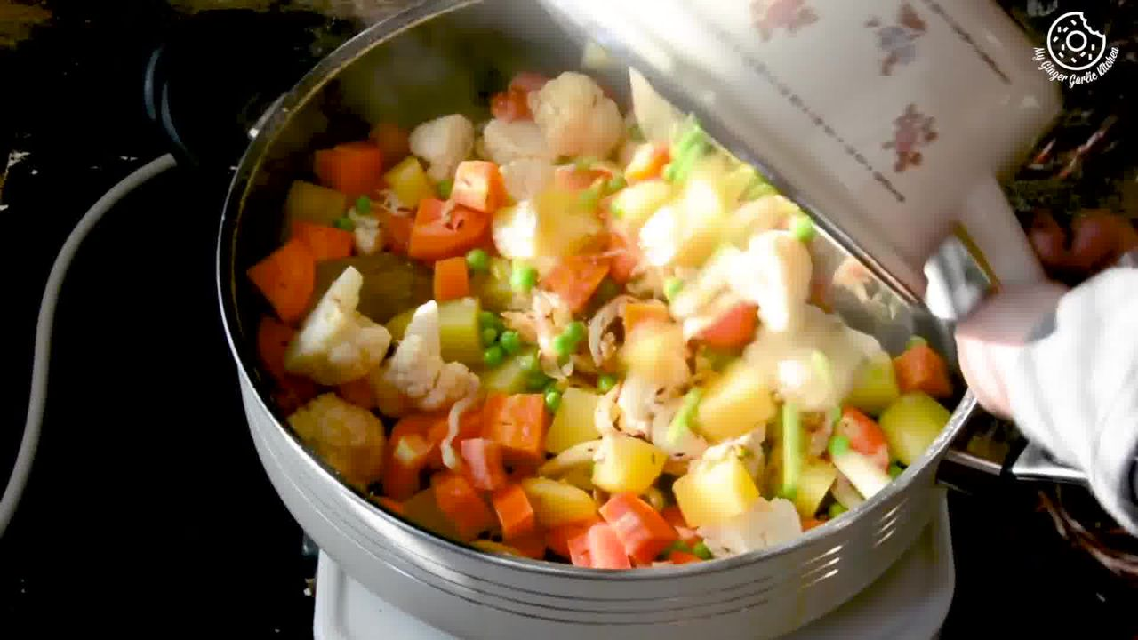 Image of the cooking step-1-10 for Vegetable Tahiri Recipe - Aromatic One Pot Tehri