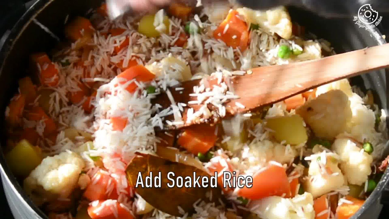 Image of the cooking step-1-11 for Vegetable Tahiri Recipe - Aromatic One Pot Tehri