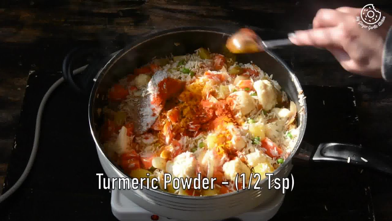 Image of the cooking step-1-12 for Vegetable Tahiri Recipe - Aromatic One Pot Tehri