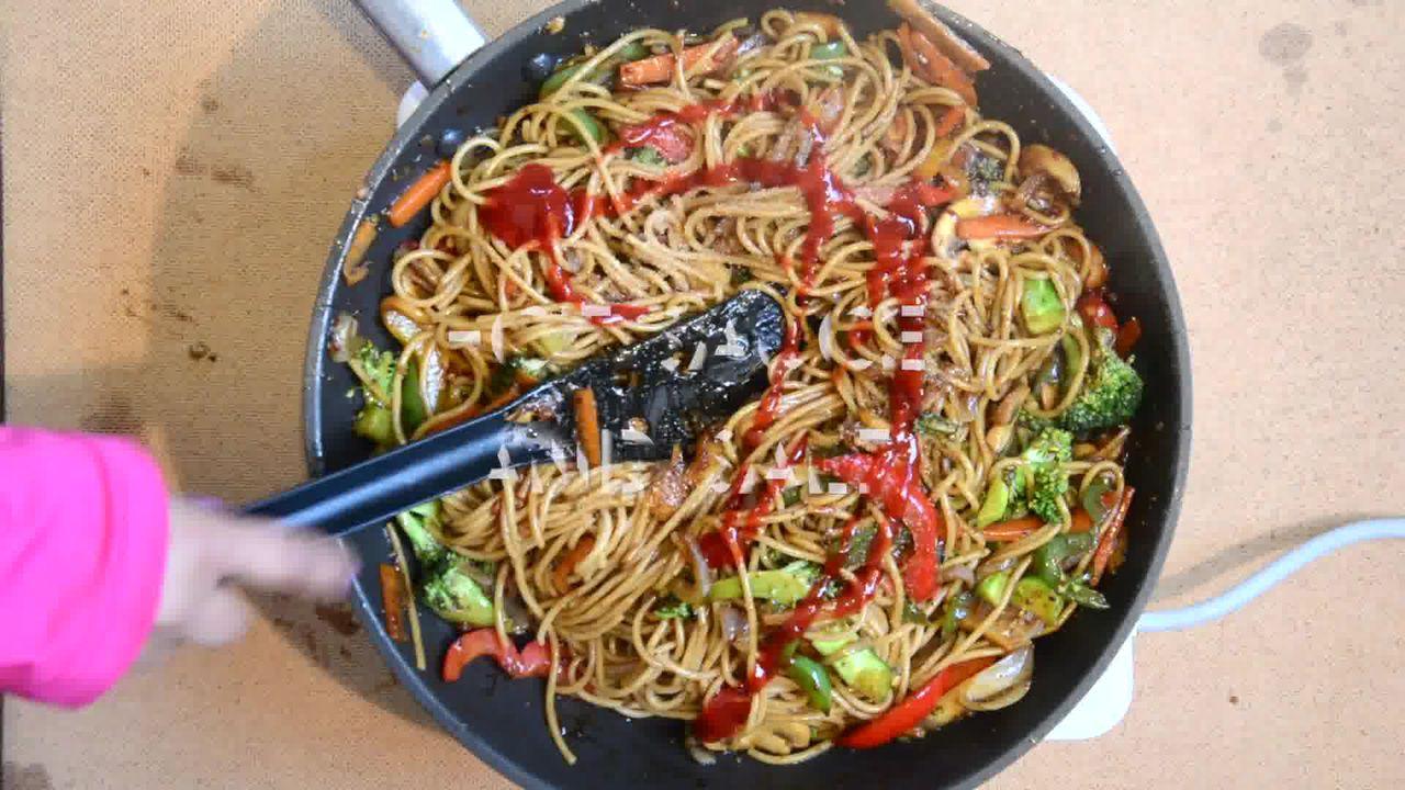 Image of the cooking step-1-7 for Vegetable Teriyaki Noodles - Teriyaki Stir Fry Noodles