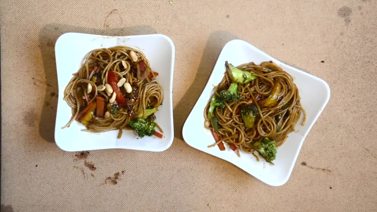 Image of the cooking step-1-8 for Vegetable Teriyaki Noodles - Teriyaki Stir Fry Noodles