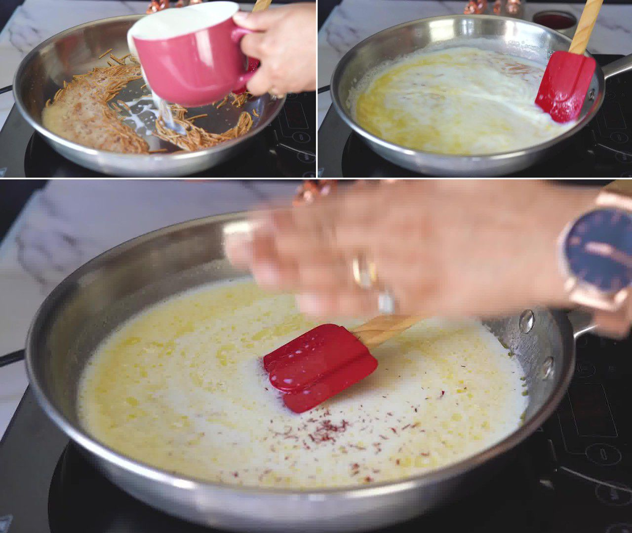 Image of the cooking step-1-4 for Vermicelli Fruit Custard - Semiya Custard