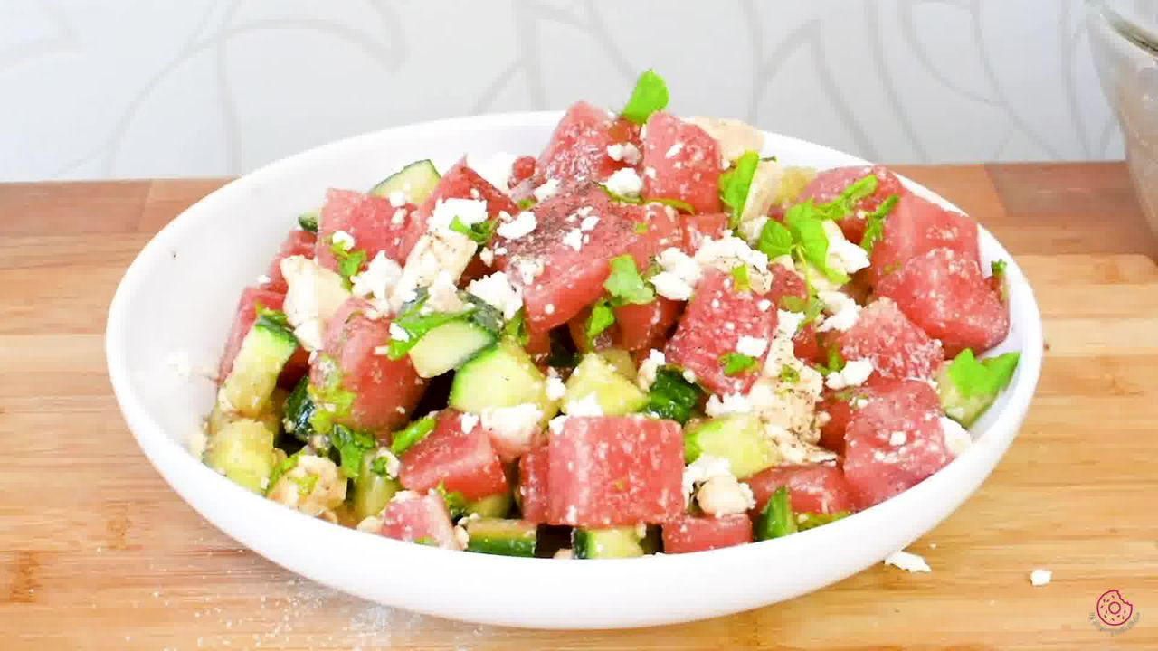 Image of the cooking step-2-6 for Watermelon Cucumber Feta Salad