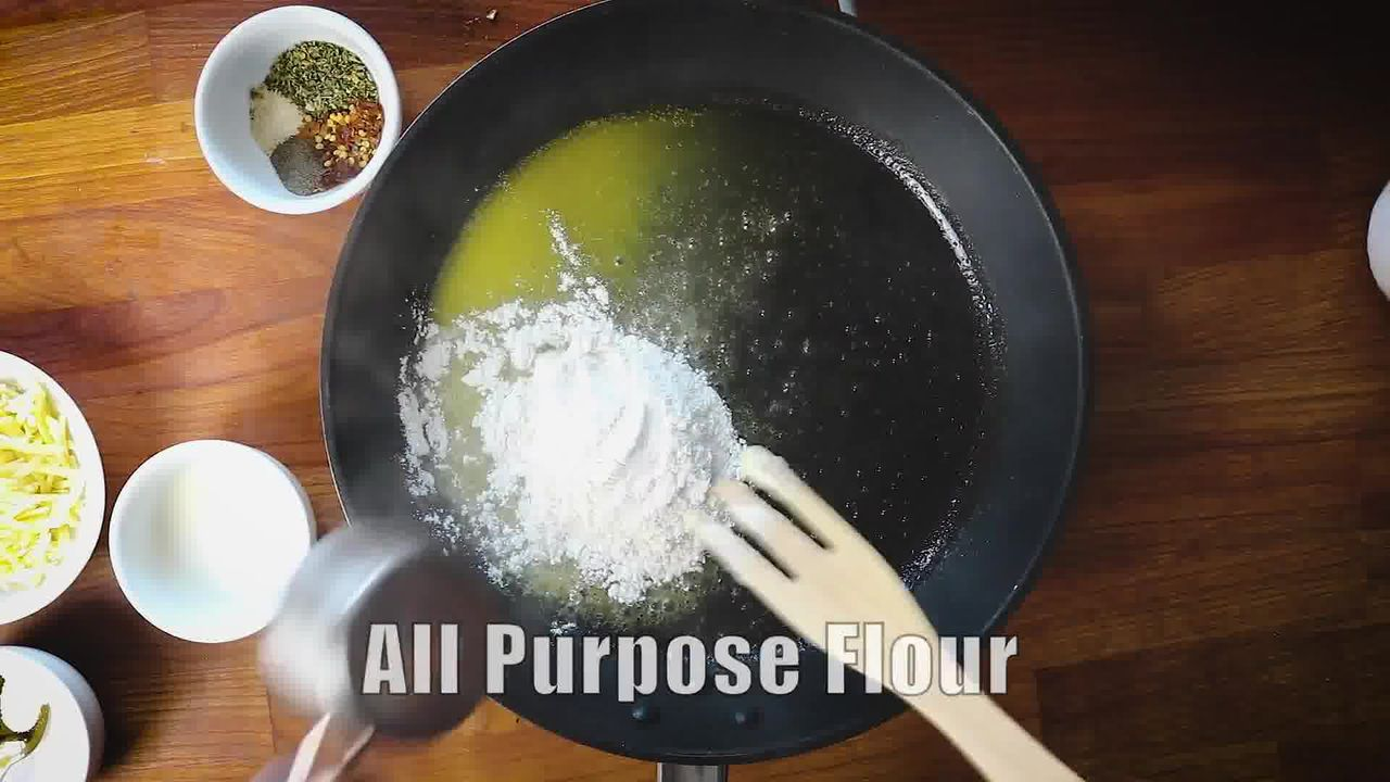 Image of the cooking step-3-2 for White Sauce Pasta Recipe (Béchamel Sauce Pasta)