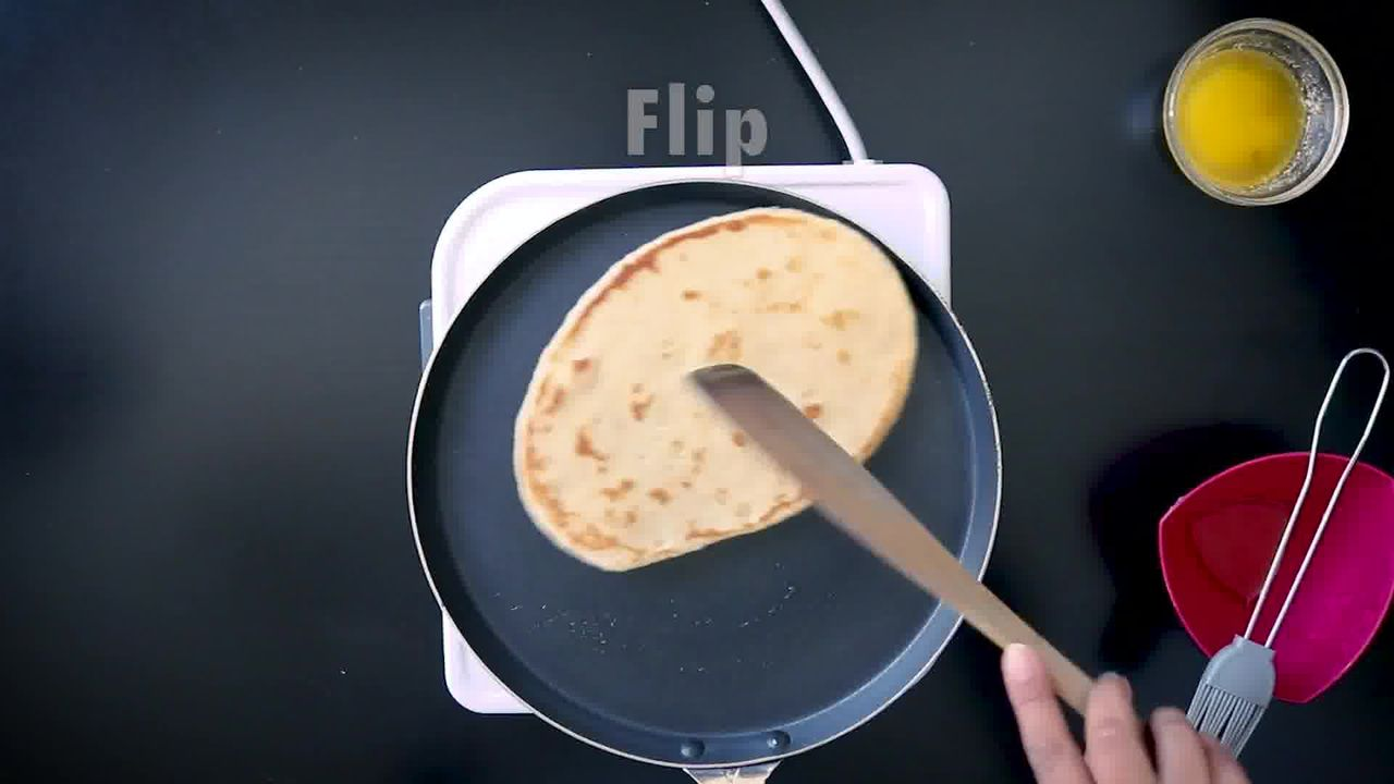 Image of the cooking step-1-12 for Instant Whole Wheat Naan - No Yeast