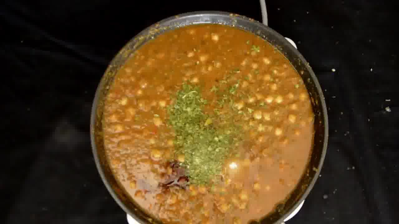 Image of the cooking step-1-6 for Mint Chickpea Cornmeal Tart - Pudina Chola (Zero Oil)