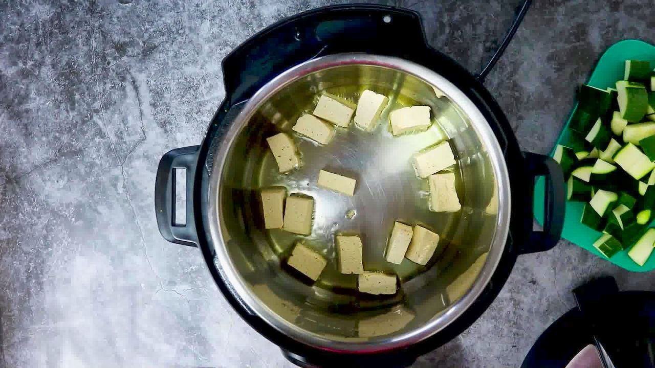 Image of the cooking step-1-2 for Zucchini Tofu Curry (Instant Pot + Stovetop)