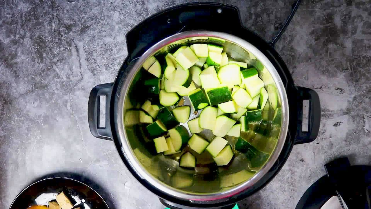Image of the cooking step-1-5 for Zucchini Tofu Curry (Instant Pot + Stovetop)