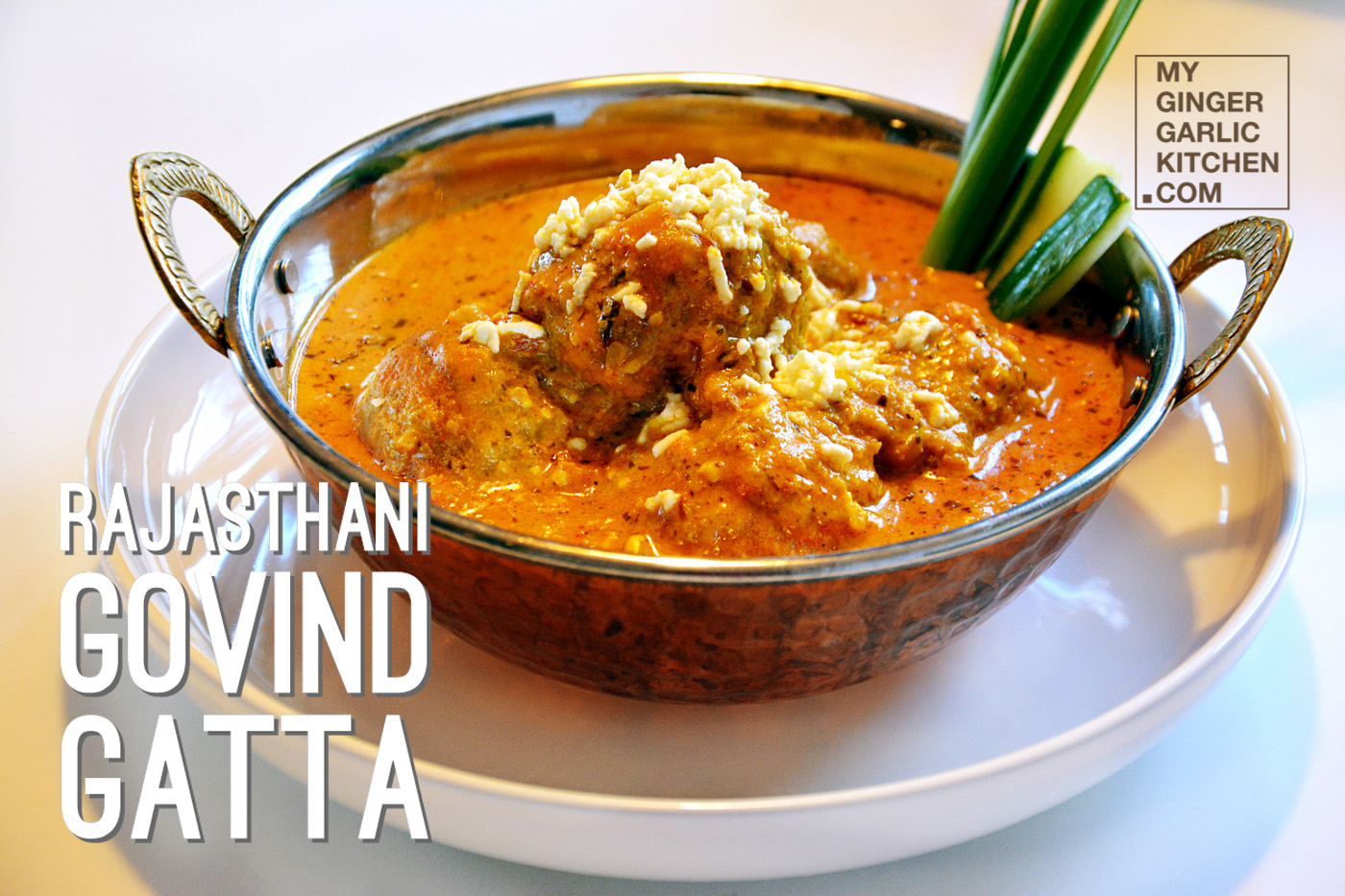 Image of Rajasthani Govind Gatta Curry | Govind Gatte Ki Sabji |  How to Make Govind Gatta