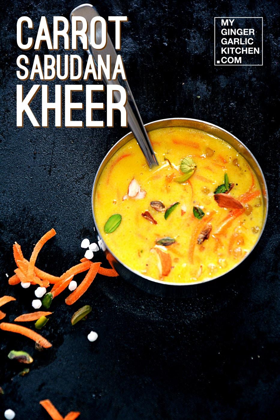 Image - recipe carrot sabudana kheer anupama paliwal 1