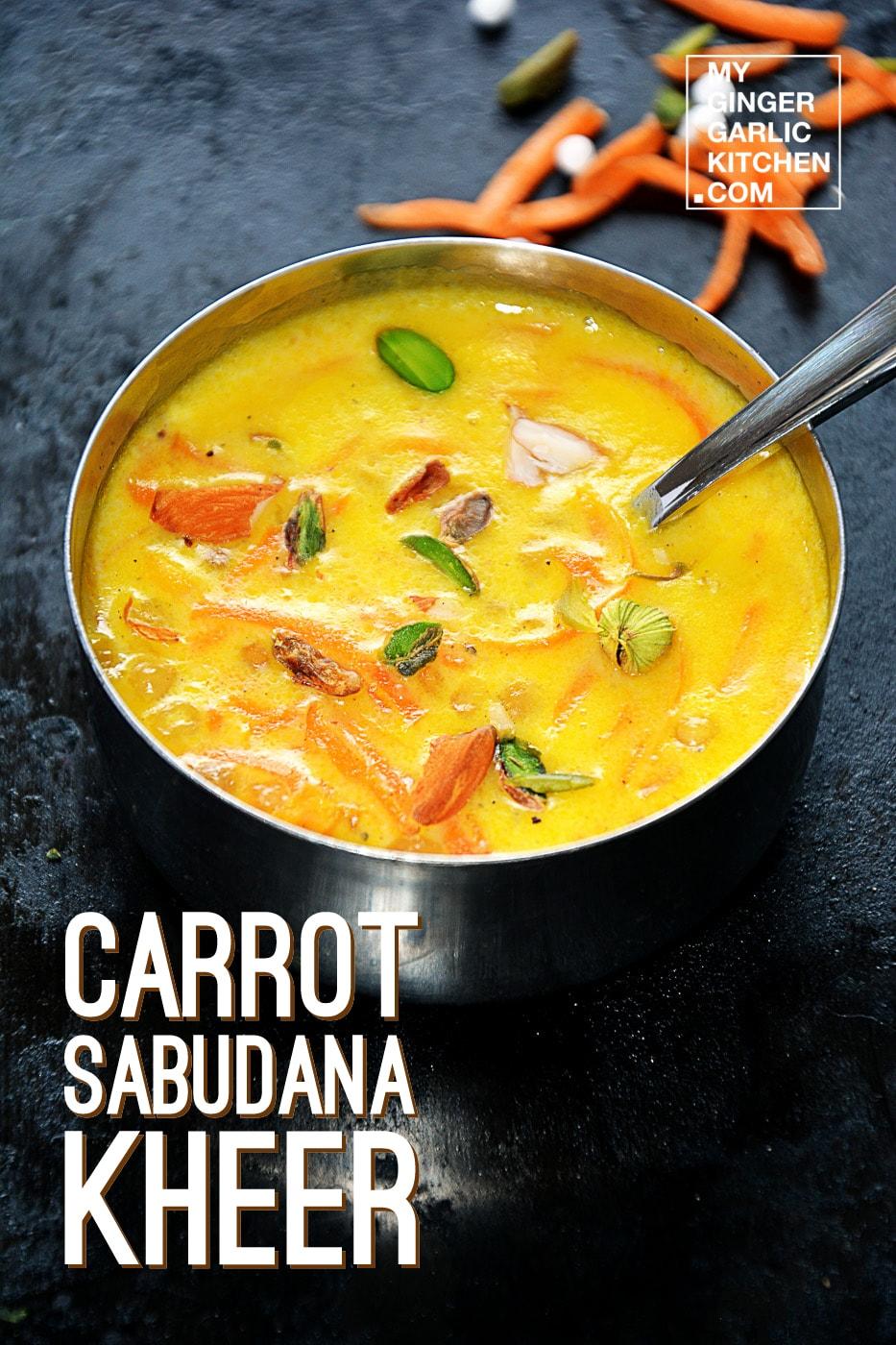 Image - recipe carrot sabudana kheer anupama paliwal 2