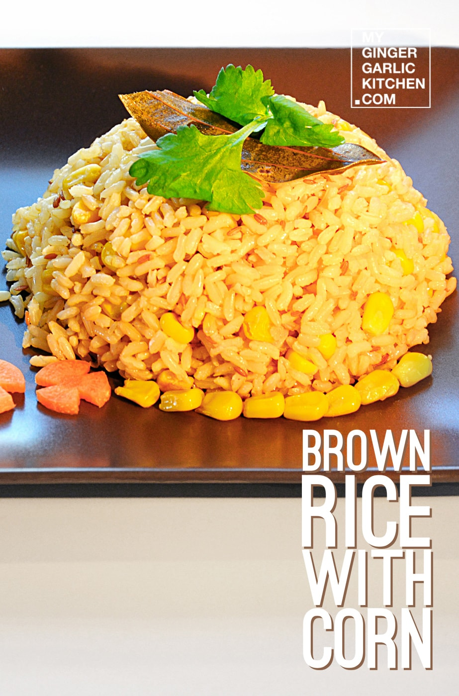 Image of Quick & Healthy Spiced Brown Rice With Corn Recipe | How To Make Brown Rice