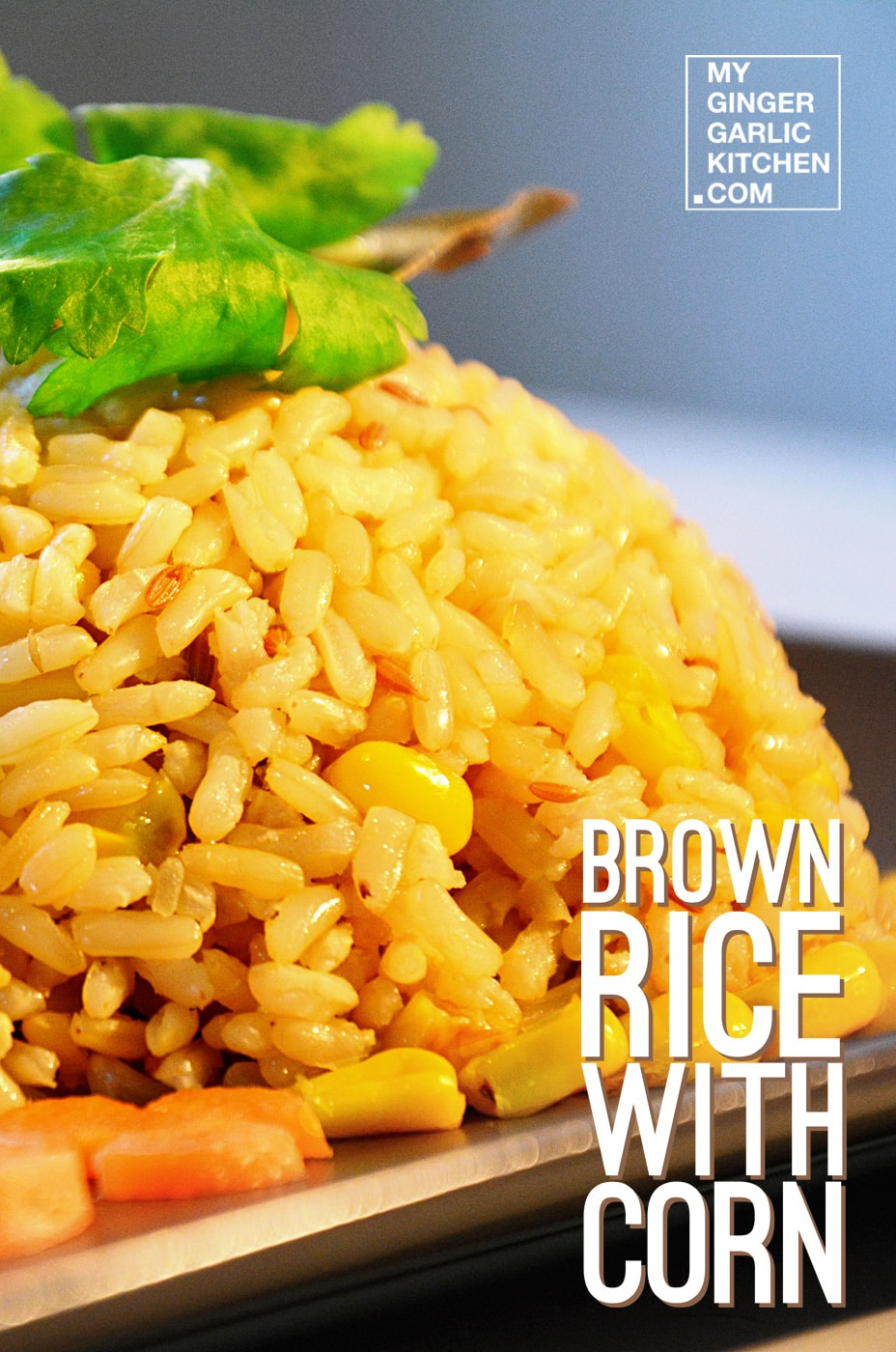 Image - recipe brown rice with corn anupama paliwal my ginger garlic kitchen 4 copy
