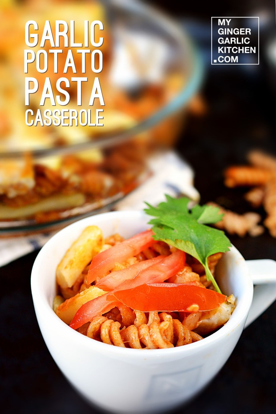 Image of Garlic Potato Pasta Casserole Recipe