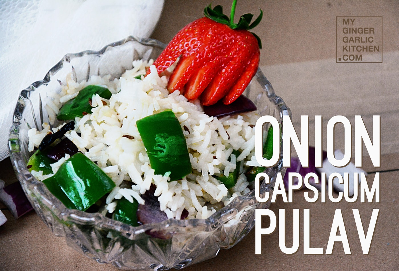 Image - recipe refrshing onion capsicum pulav anupama paliwal 1