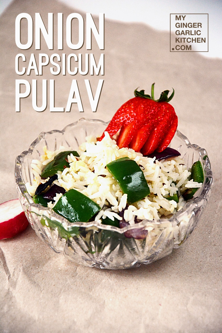 onion capsicum pulav in easy steps