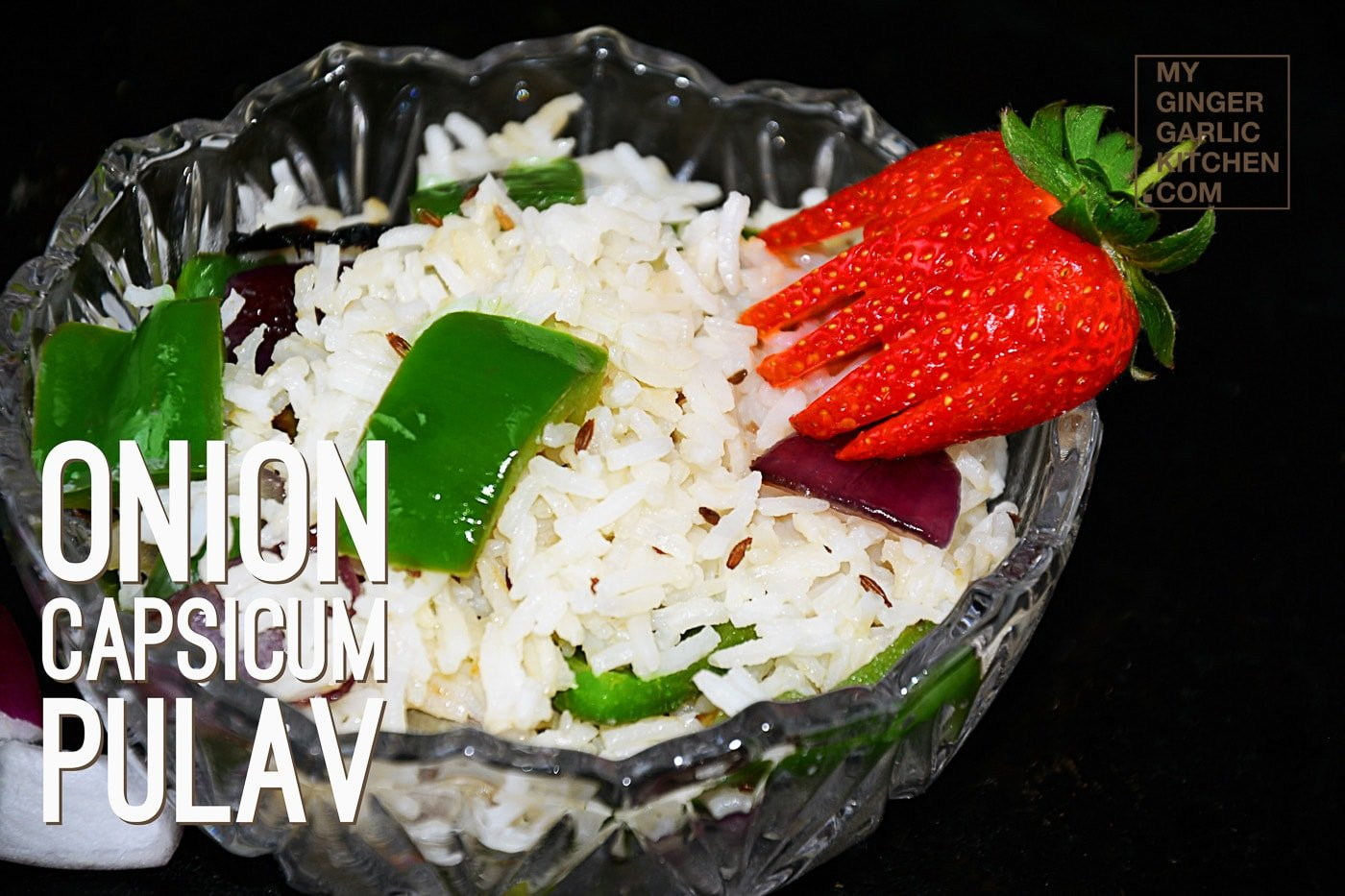 Image of Onion Capsicum Pulao - Capsicum Rice