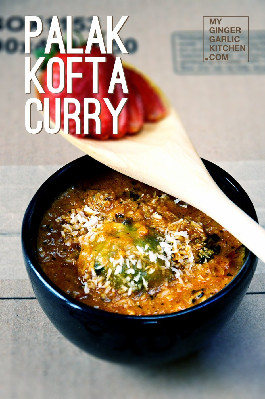 Spinach (Palak) Kofta Curry | mygingergarlickitchen.com/ @anupama_dreams
