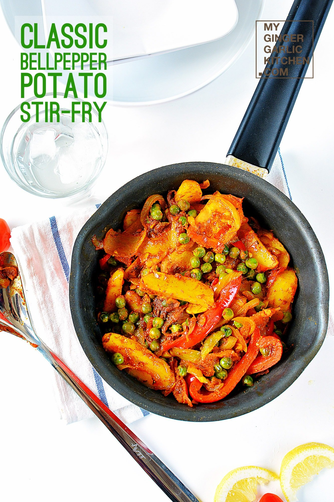 Image of Classic Potato Bell Pepper Stir-Fry