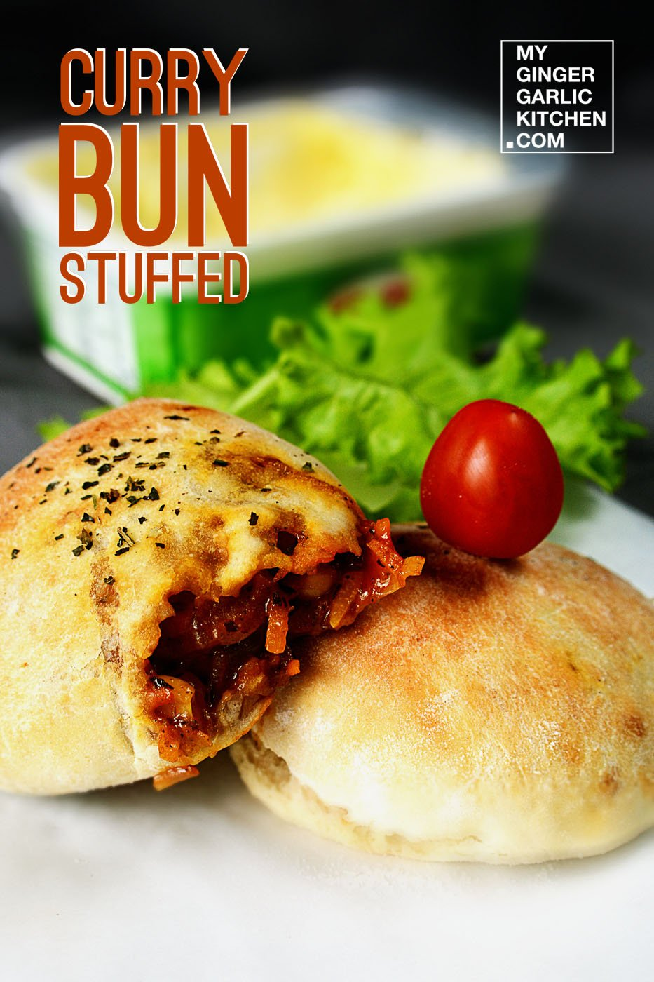 Image of Curry Stuffed Bun [Vegetarian-Recipe]