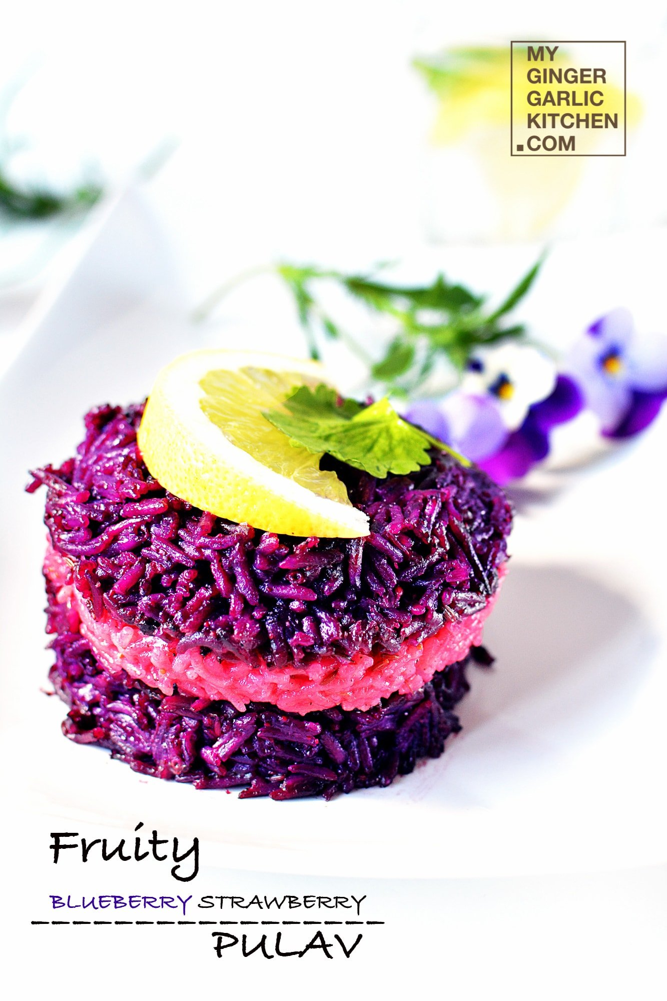 Image of Fruity Blueberry Strawberry Pulav /Rice [Signature Recipe]