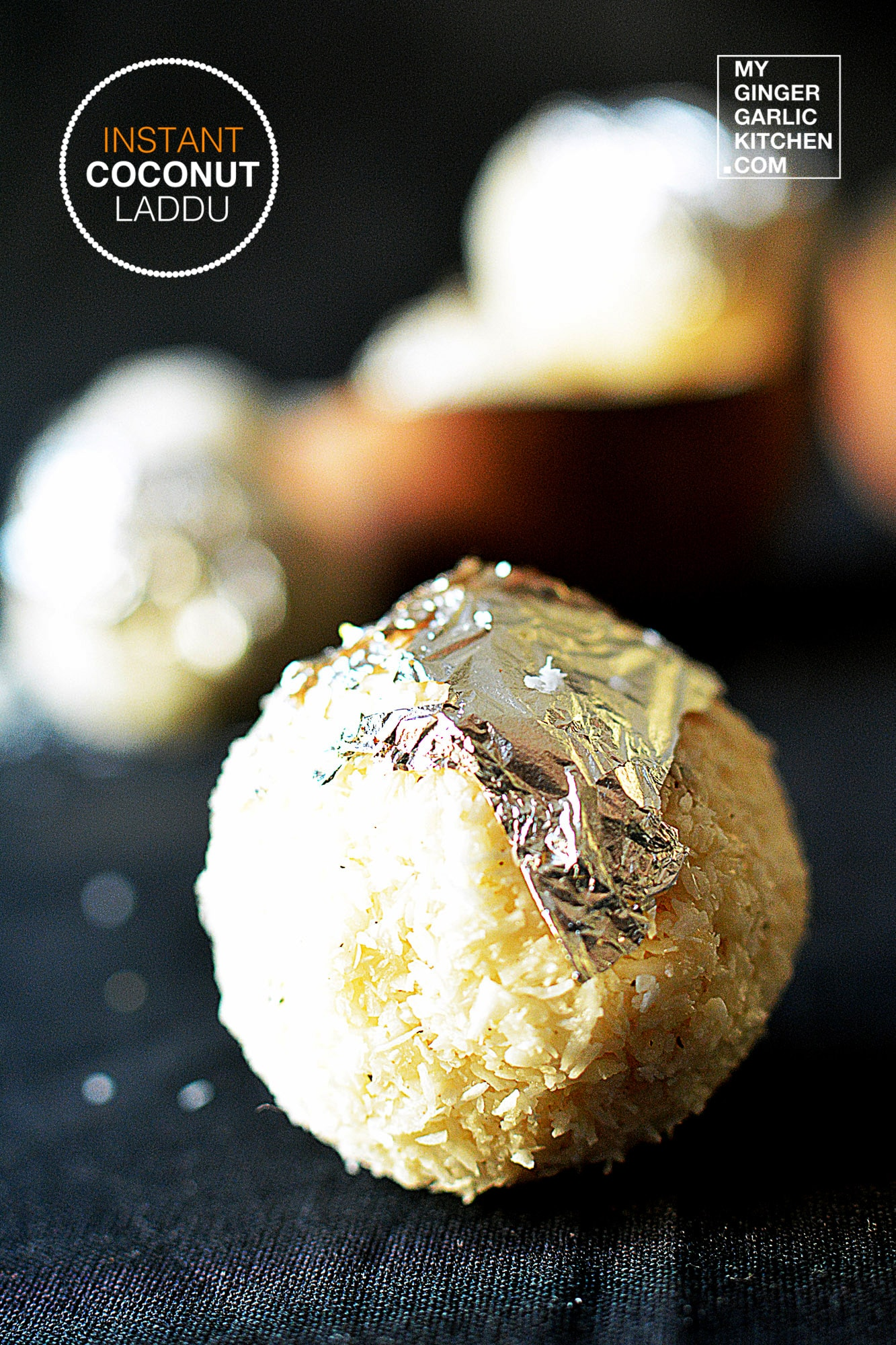Image - recipe instant coconut laddu anupama paliwal my ginger garlic kitchen 1