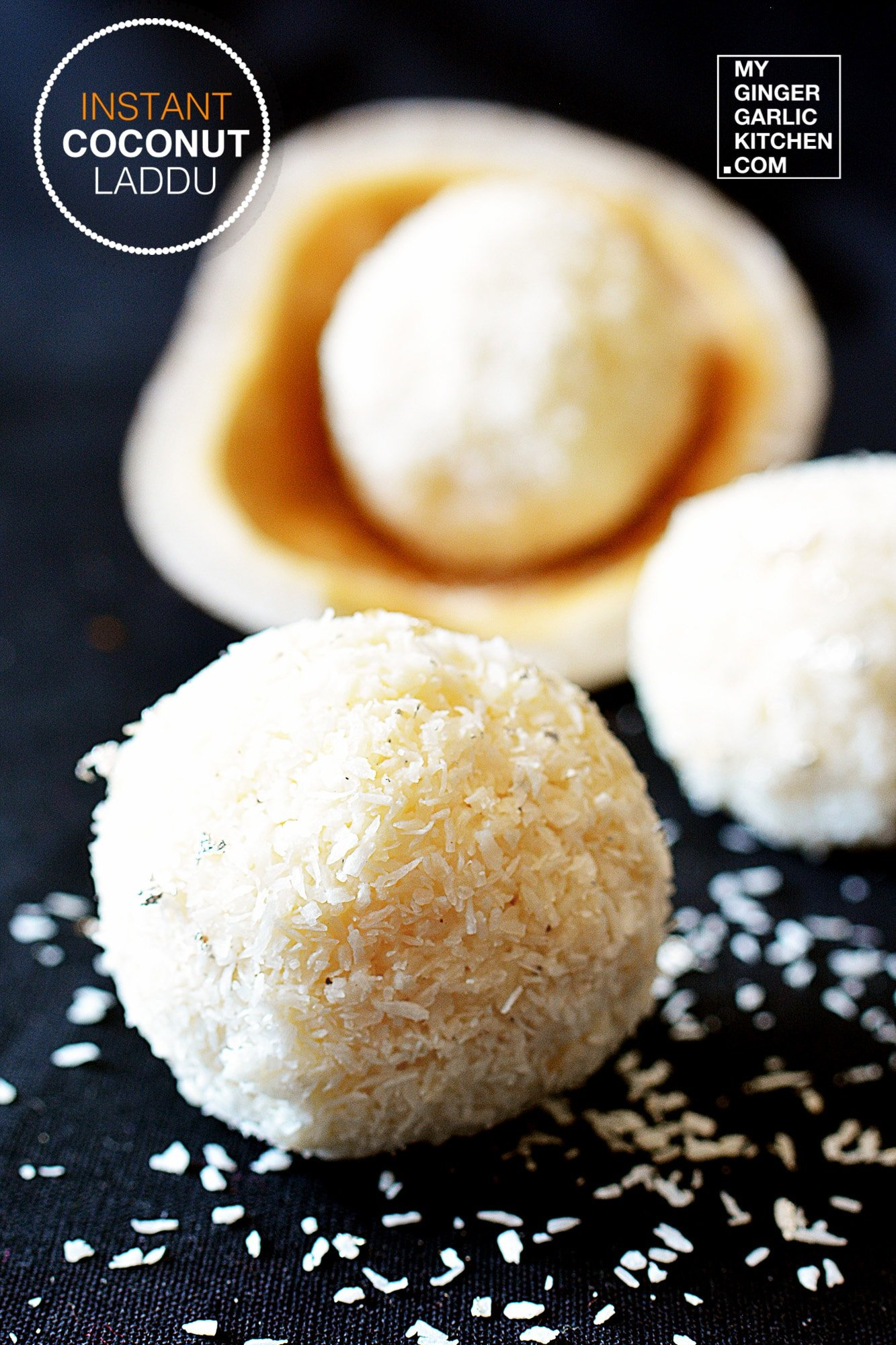 Image of Instant 5 Mins Coconut Ladoo - No Heat